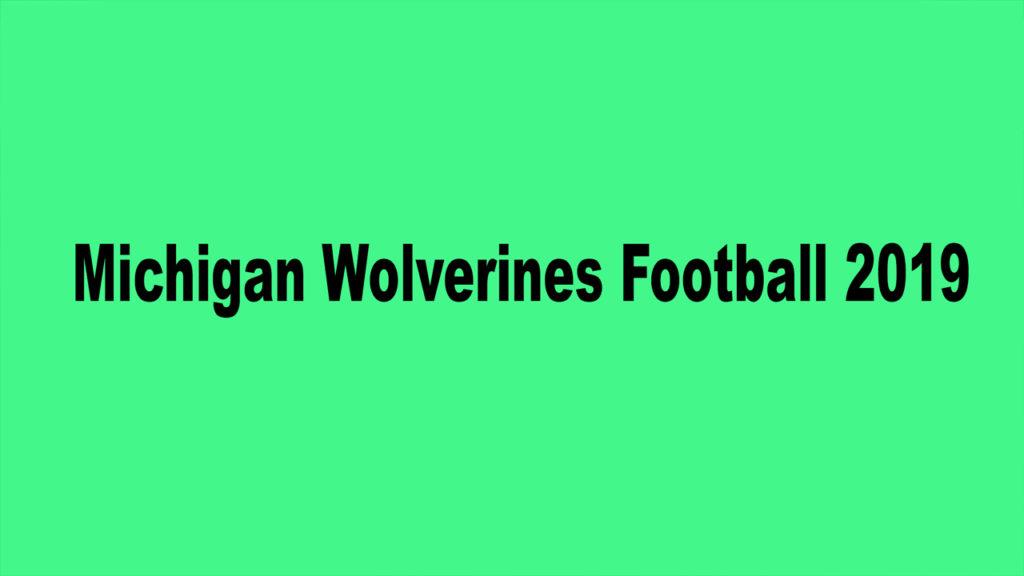 Michigan Football 2019 game